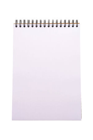blank note book: Empty blank note book isolated on white background Stock Photo