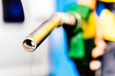 ガス燃料 - 頭のポンプにセレクティブ フォーカス処理ヴィンテージ効果スタイル写真