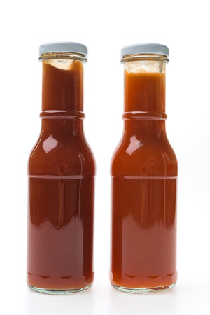 chilli sauce: Tomato and Chilli Sauce bottle isolated on white background