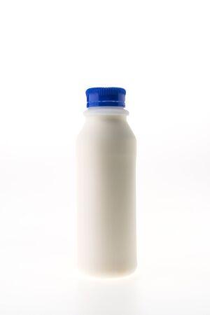 milkman: Fresh milk bottle isolated on white background