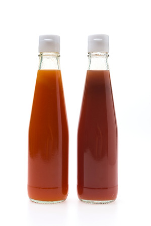 tomato catsup: Sauce bottle isolated on white background