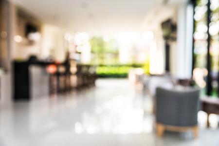 抽象的なホテルのロビーの背景をぼかし 写真素材