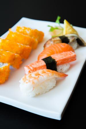 nigiri: Nigiri sushi japanese food Stock Photo