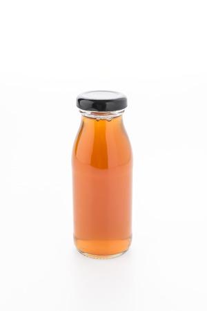 juice bottle: Apple juice bottle isolated on white background