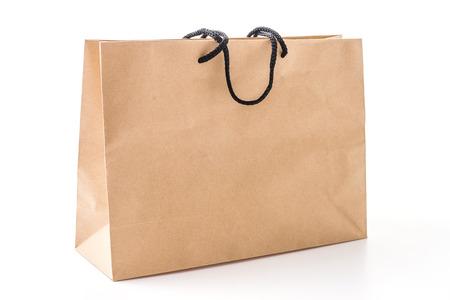 Boodschappen tas geïsoleerd op wit