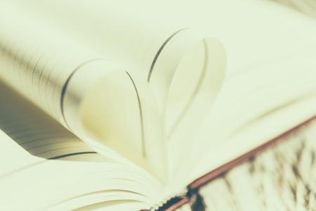 Heart book - vintage effect