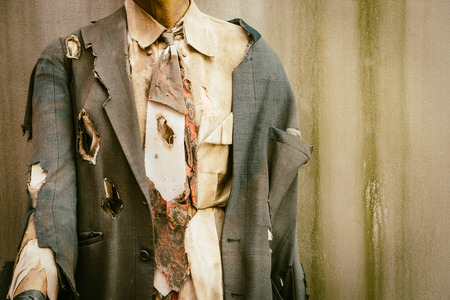 Business zombie - vintage effect