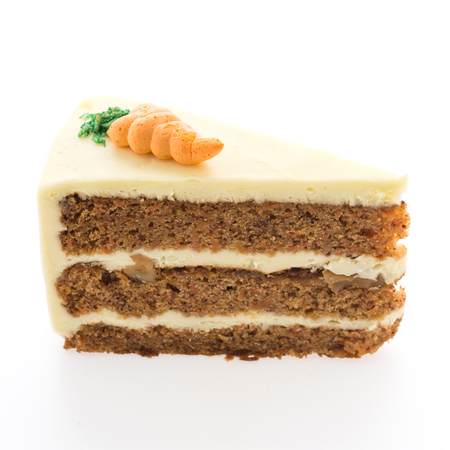 carrot cakes: Carrot cake isolated on white background
