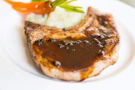 chop: Pork chop steak