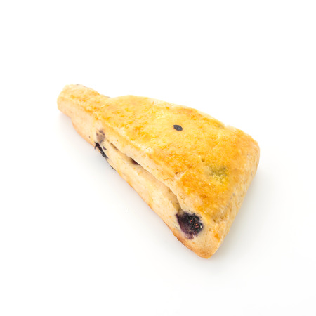 scone: Blueberry Scone isolated on white background