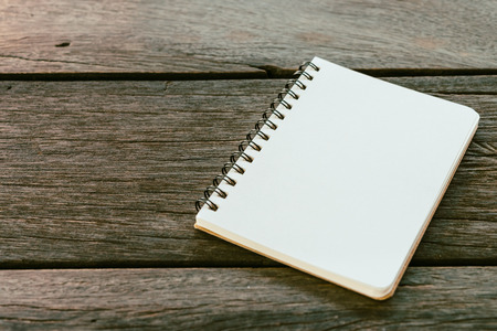 blank note book: Blank note book paper on wooden background