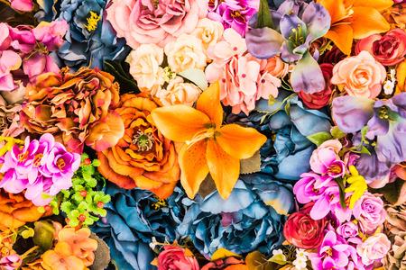 románský: Flower pozadí - vintage obrázky efekt style