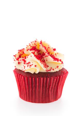 red velvet cupcake: Red velvet cupcakes isolated on white Stock Photo