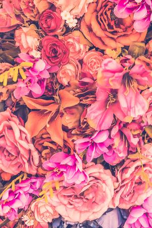 Vintage fleur de fond - filtre millésime Banque d'images - 37965121