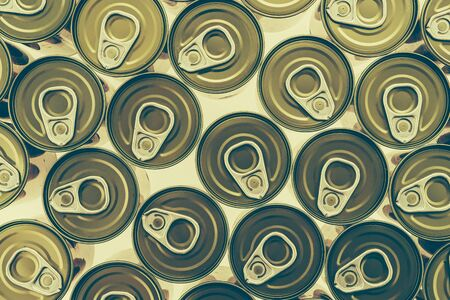 aluminum cans: Top of view aluminum cans - Vintage effect style pictures