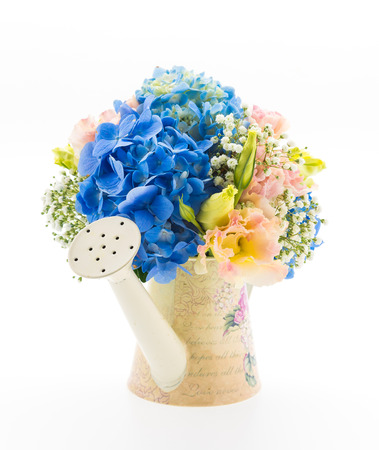 bouquet flower Hydrangea isolated on white photo