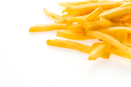 frites: French fries isolated on white background Stock Photo