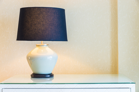 bedside lamps: Lamp in bedroom