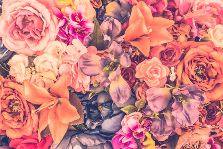 pink wedding: Vintage flower background - vintage filter