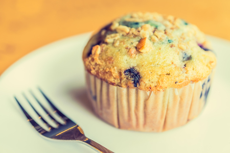 blueberry muffin: Blueberry muffin - vintage effect style picture