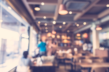 Abstract blur restaurant background - vintage filter Imagens - 38551088