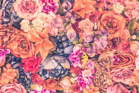 Vintage flower background - vintage filter