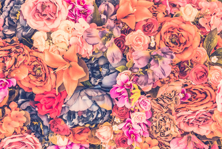 Vintage flower background - vintage filter