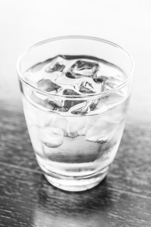 glass of water: Glass water - black and white processing Stock Photo