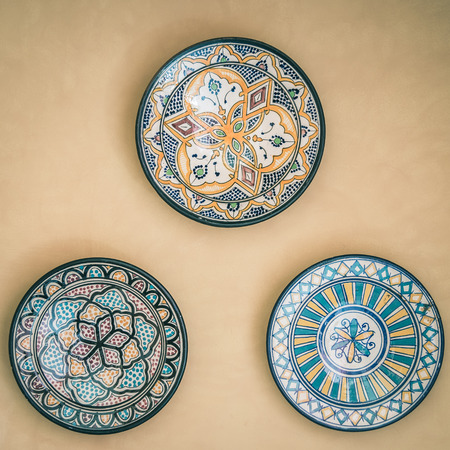 Morocco dish decoration - vintage effect
