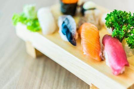 sushi: Sushi sashimi japanese food - soft effect style pictures - selective focus point Stock Photo