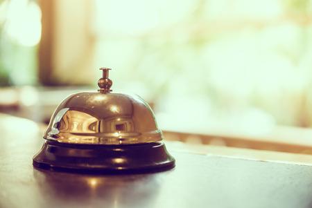 call bell: Hotel bell - vintage filter