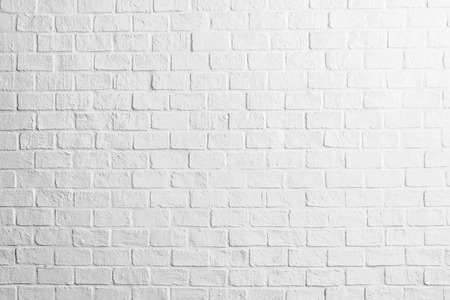 White concrete brick wall textures background Stock Photo