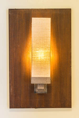 wall sconce: Light lamp on wall Stock Photo