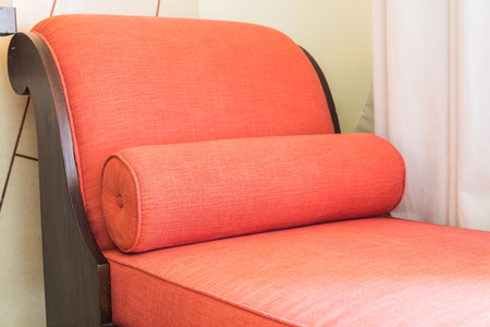 red sofa: Red sofa bed chair Stock Photo