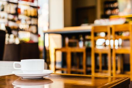 taza cafe: Taza de café en la cafetería - efecto vintage