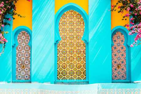 arabic style: Morocco architecture style - vintage effect style pictures