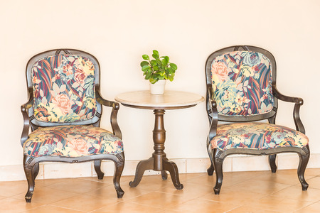Vintage empty chair photo