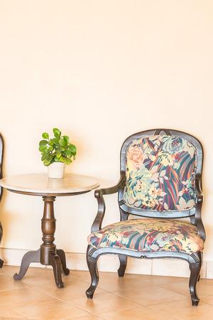 sedia vuota: Sedia vuota Vintage Archivio Fotografico