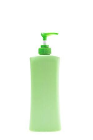 lotion bottle: Plastic lotion bottle isolated on white background