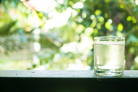 Glas water Stockfoto