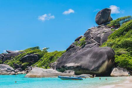 Beautiful Similan rock island at andaman sea in phuket Thailand Stock Photo