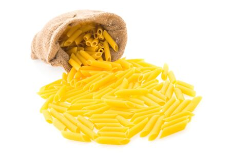 rotini: Pasta isolated on white background