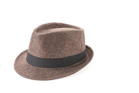dressy: Straw hat isolated on white background