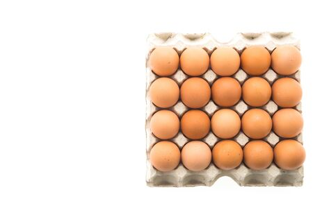 aliment: Eggs isolated on white background