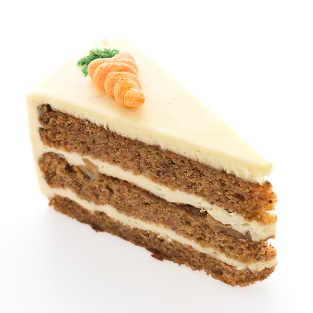 carrot cakes: Carrot cakes isolated on white background
