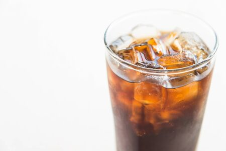 cola: Ice cola water glass Stock Photo