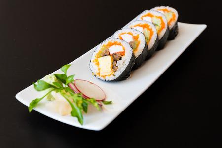 japanese food: Sushi roll japanese food