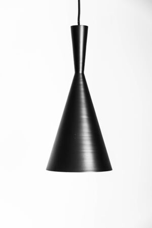 wall sconce: Light lamp on white wall with copy space - black and white style pictures