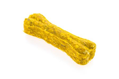 rawhide: Colorful dog bones food isolated on white background