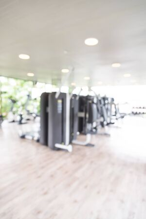 Abstract blur fitness gym background photo
